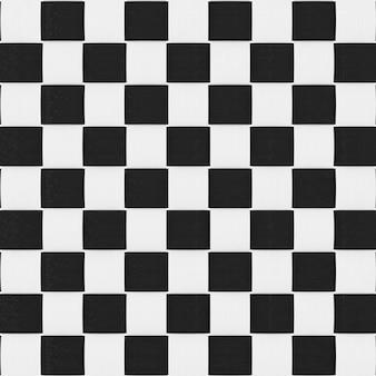 Bambu preto e branco tecelagem textura de fundo padrão closeup extrema. renderização 3d.