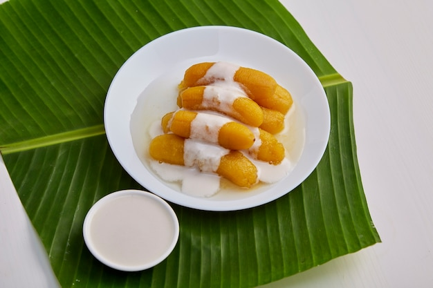 Banana doce comida tailandesa