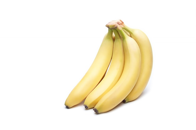 Banana fruta em branco