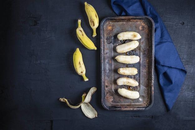 Banana frutas e mel alimentos saudáveis
