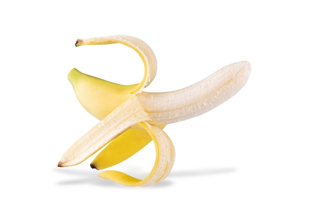 Banana isolada em um fundo branco