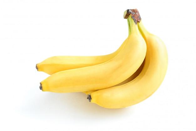Banana isolada no branco. fundo.