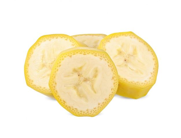Banana isolada no branco