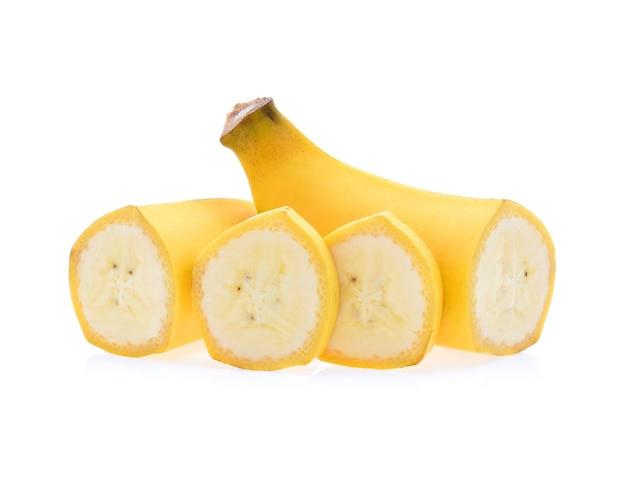Banana isolada no branco.