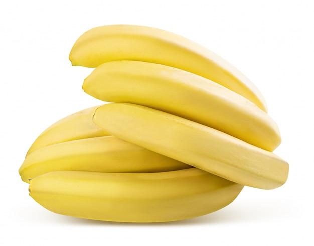 Banana isolada. traçado de recorte