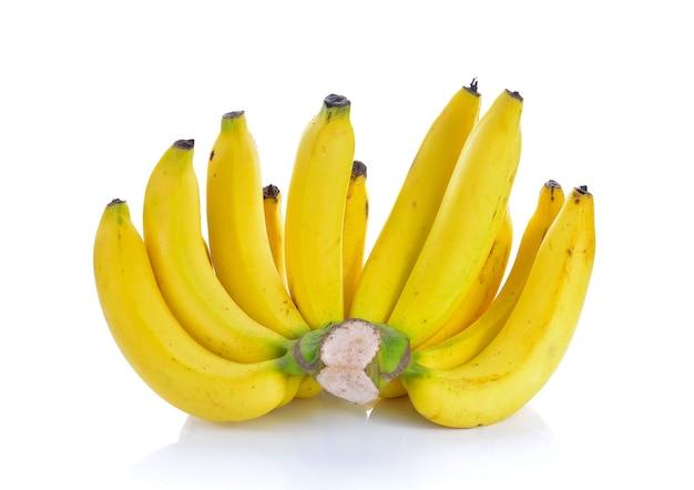 Banana madura em branco
