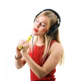 Banana, não microfone
