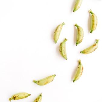Bananas. conceito de comida criativa