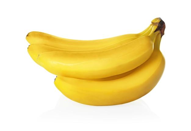 Bananas deliciosas em branco