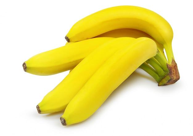 Bananas em branco isolado