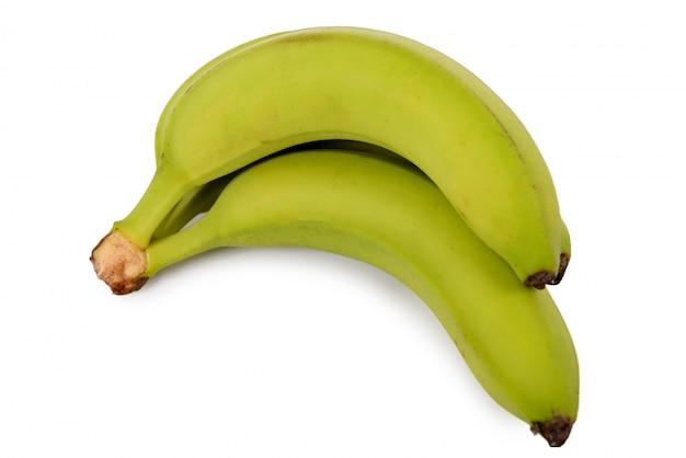 Bananas em um fundo branco