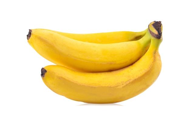 Bananas isoladas em fundo branco