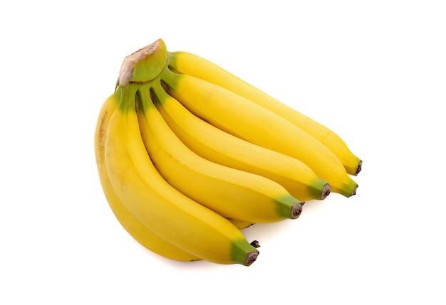Bananas isoladas no espaço em branco