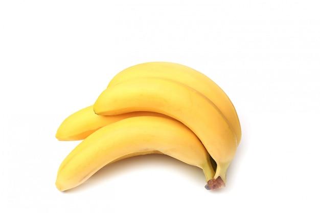 Bananas isoladas no fundo branco