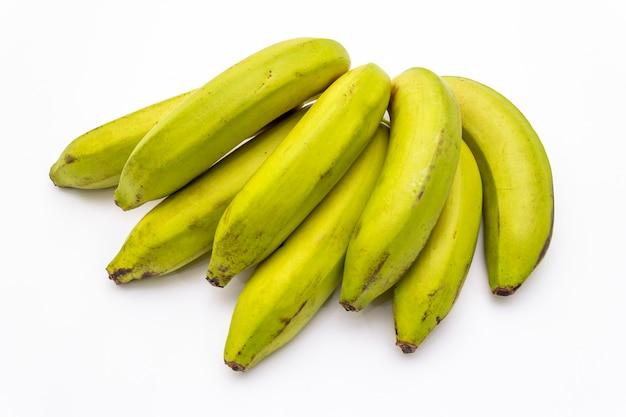Bananas na superfície branca