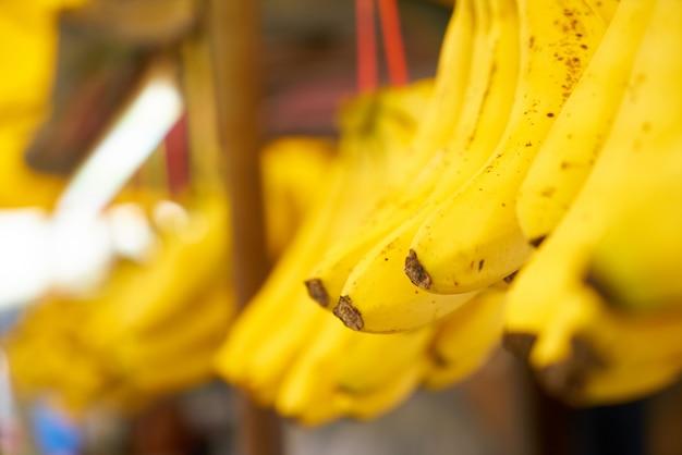 Bananas pendurado em uma corda