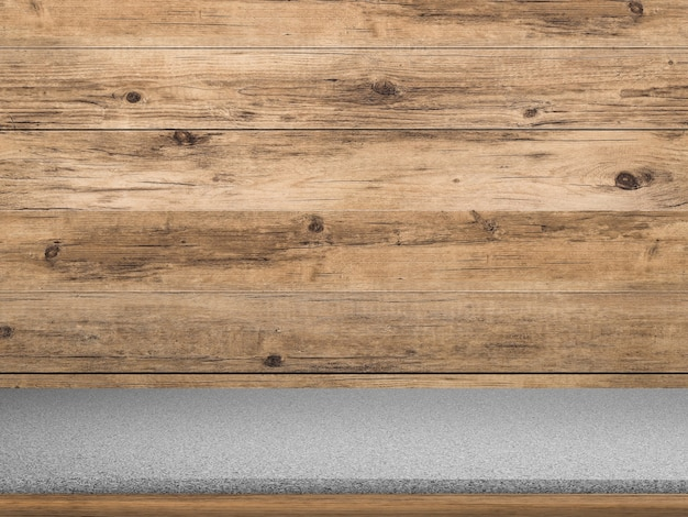 Bancada de granito com fundo de madeira