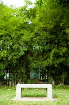 Bancadas e bambu.