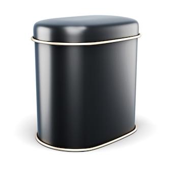 Banco de metal preto para produtos secos
