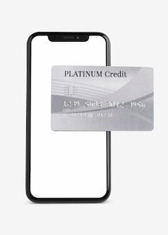 Banco móvel de cartão de crédito platinum