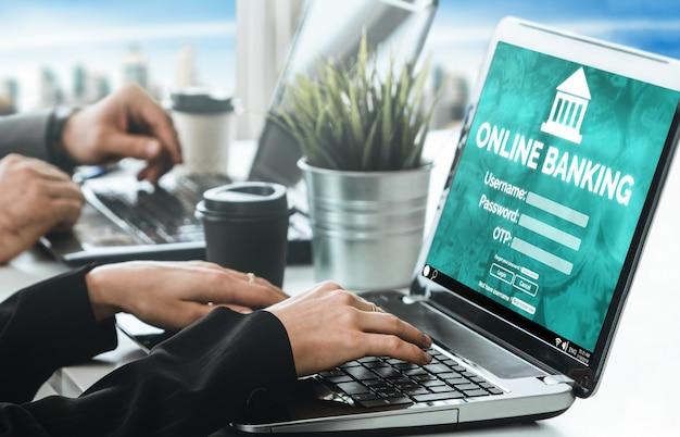Banco on-line para tecnologia de dinheiro digital