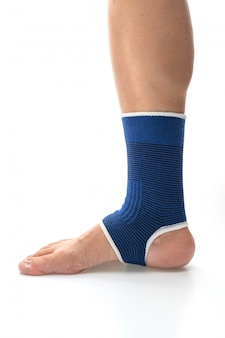 Bandagem para suporte dor no tornozelo