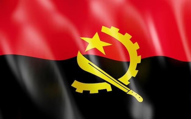Bandeira 3d de angola.