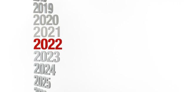 Bandeira abstrata do ano 2022. véspera de ano novo. copie o espaço. ilustração 3d.