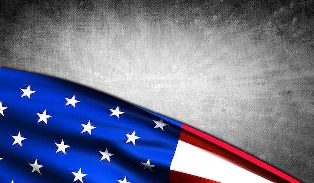 Bandeira americana, com, copyspace