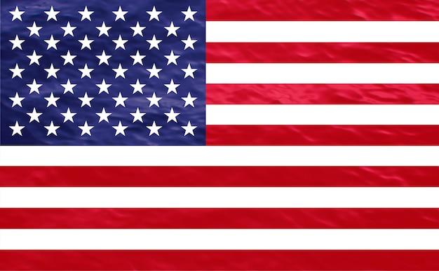 Bandeira americana dos estados unidos com texturas naturais e fundo desbotado.