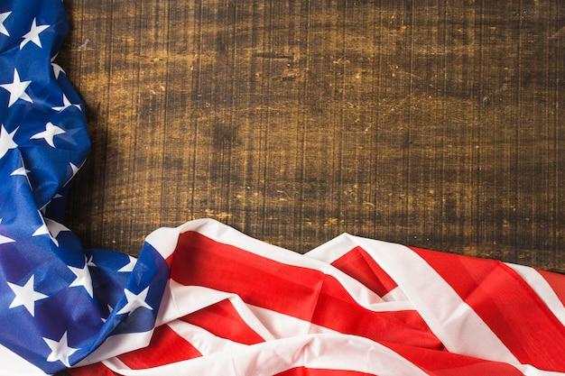 Bandeira americana eua no cenário de madeira