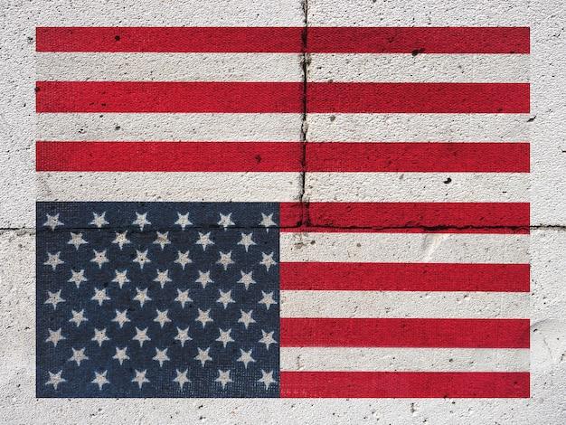 Bandeira americana. fechar-se