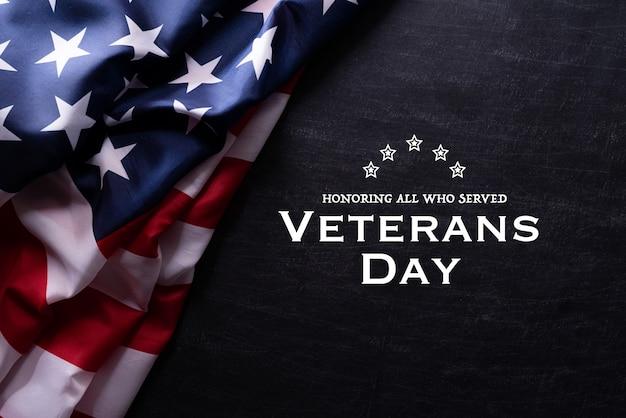 Bandeira americana para o dia dos veteranos