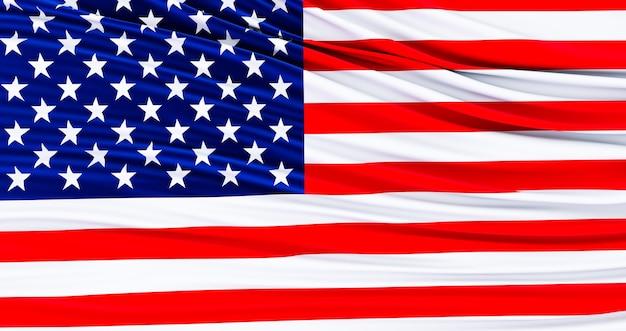Bandeira americana para o memorial day, 4 de julho, dia da independência.