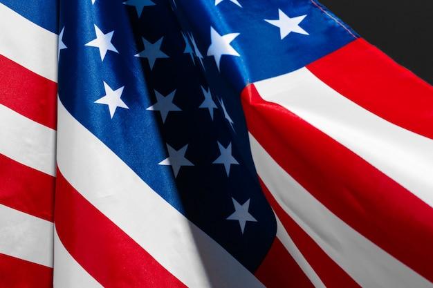 Bandeira americana vintage em uma lousa com espaço para texto