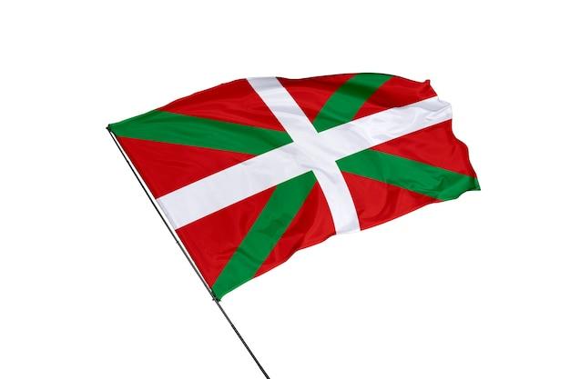 Bandeira basca em um fundo branco