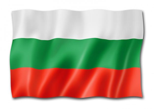 Bandeira búlgara isolada no branco