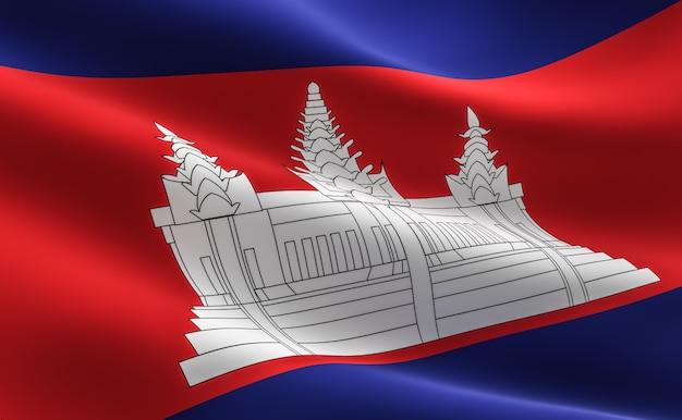 Bandeira cambojana