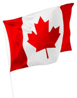 Bandeira canadense isolada no branco