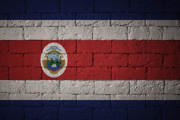 Bandeira com proporções originais. closeup da bandeira do grunge da costa rica