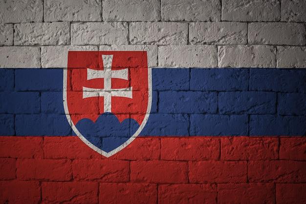 Bandeira com proporções originais. closeup da bandeira do grunge da eslováquia