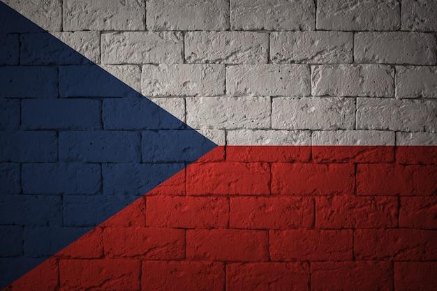 Bandeira com proporções originais. closeup da bandeira do grunge da república checa