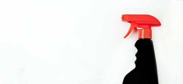 Bandeira. conceito de empresa de limpeza ou limpeza doméstica.
