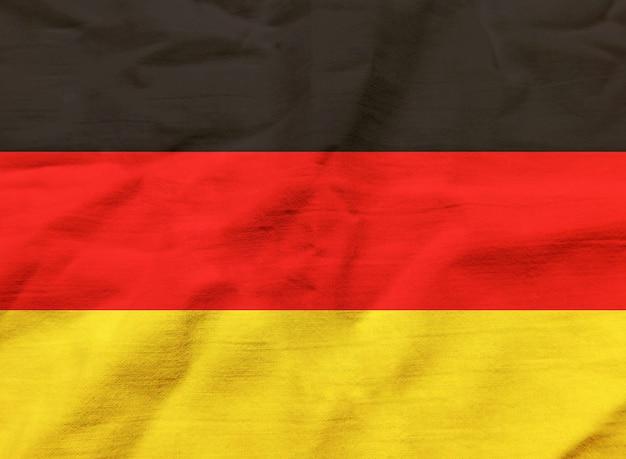 Bandeira da alemanha com textura no fundo