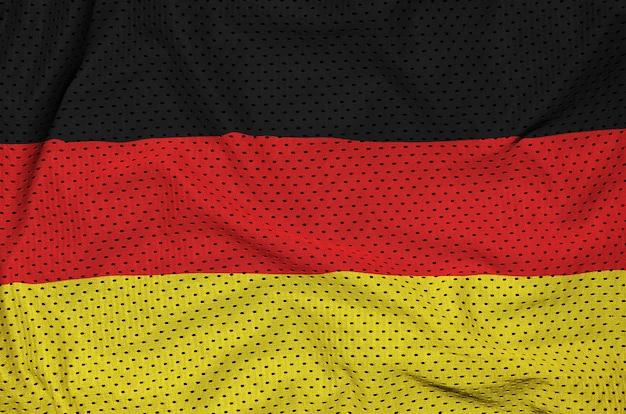 Bandeira da alemanha impressa em um tecido de malha de nylon para sportswear de poliéster