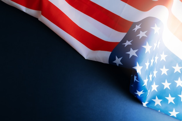 Bandeira da américa com copyspace