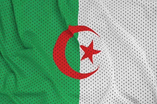 Bandeira da argélia impressa em tecido de malha de nylon para sportswear de poliéster