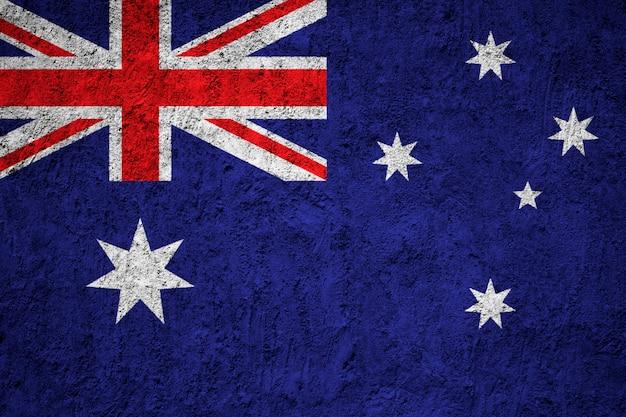 Bandeira da austrália pintada na parede do grunge