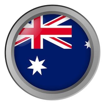Bandeira da austrália redonda como um botão