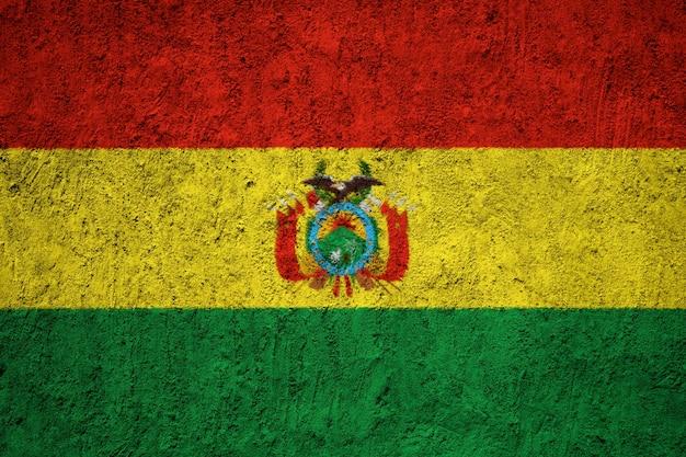 Bandeira da bolívia pintada na parede do grunge